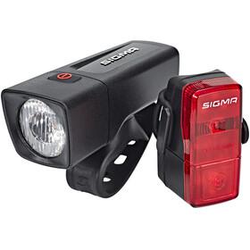 SIGMA SPORT Aura 25 / Cubic - Kit éclairage vélo - rouge/noir